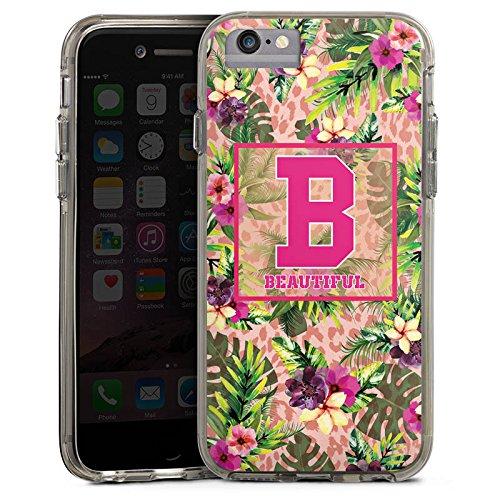 Apple iPhone 7 Plus Bumper Hülle Bumper Case Glitzer Hülle College Magnifique Beautiful Bumper Case transparent grau