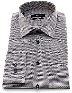 Seidensticker Herren Langarm Hemd UNO Regular Fit Kent mehrfarbig strukturiert 131750.37