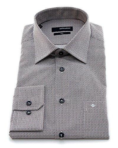 Seidensticker Herren Langarm Hemd UNO Regular Fit Kent mehrfarbig strukturiert 131750.37 Grau