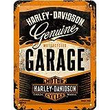 Nostalgic Art 26178 Harley-Davidson garaje, diseño, 15 x 20 cm