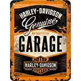 Nostalgic-Art 40361132617 Cartello Harley-Davidson Garage, Acciaio, Multicolore, 20 x 15 x 0.2 cm
