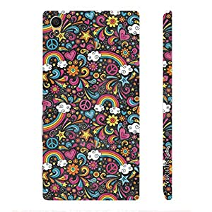 Sony Xperia Z5 Dual Flowery Rainbow designer mobile hard shell case by Enthopia