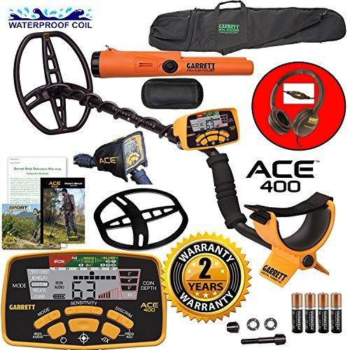 Garrett ACE 400 Metalldetektor mit wasserfester Spule Pro-Pointer at und Tragetasche