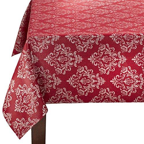 Benson Mills Weihnachten Twinkle Damast Metallic Tischdecke, rot, 52