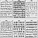 Asian Hobby Crafts Stencils for Sketching and Scrapbooking for Kids,- Set of 6 (Alphabet Assorted)