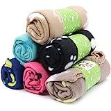 tifee Lot de 6 couvertures pour animal domestique avec coussin doux et chaud lavable, motif pattes, 60 x 70 cm, multicolore