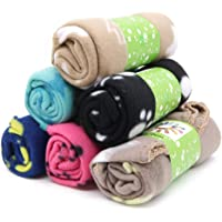 Urio 6 Pieces Pet Blanket Cushion Dog Cat Soft Warm Blankets Puppy Washable Sleep Mat Pad Bed Cover With Paw Print(60 x 70cm/23.6 x 27.6 inch, Multicolor)