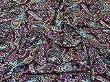 Paisley Print Viskose Challis Kleid Stoff