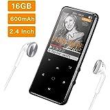 16G Reproductor MP3 Bluetooth 4.0 Mibao Reproductor de Música para el Deporte Pantalla TFT de 2.4 Pulgadas, FM Radio, Auricul
