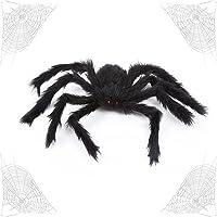OUOQI Araignée d'halloween,75cm Halloween Decoration Araignée,Fausse Araignée Noire Géante,Fausses Araignées pour Deco…