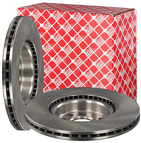 Preisvergleich Produktbild febi bilstein 24384 Bremsscheibensatz (vorne, 2 Bremsscheiben), innenbelüftet, Lochzahl 5
