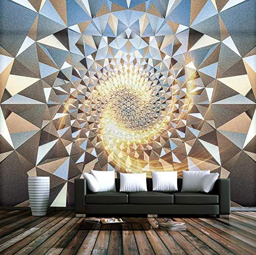 VVNASD 3D Wand Wandbilder Dekorationen Tapete Aufkleber Raum Zusammenfassungs Geometrisches Muster Bar Wohnzimmer Schlafzimmer Kunst Mädchen Tv (W) 400X(H) 280Cm (Riesen-wand-abziehbilder Für Wohnzimmer)