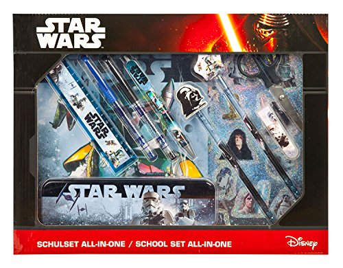 Undercover SWHX1141 - All-in-One Star Wars Schulset, 14-teilig, blau