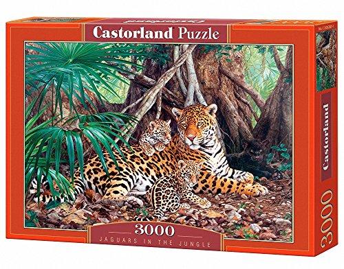 Castorland C-300280-2 - Jaguars in the Jungle, 3000-teilig, Klassische Puzzle