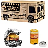 Rainbow Socks - Hombre Mujer Calcetines Food Truck Box Regalo - 3 Pares