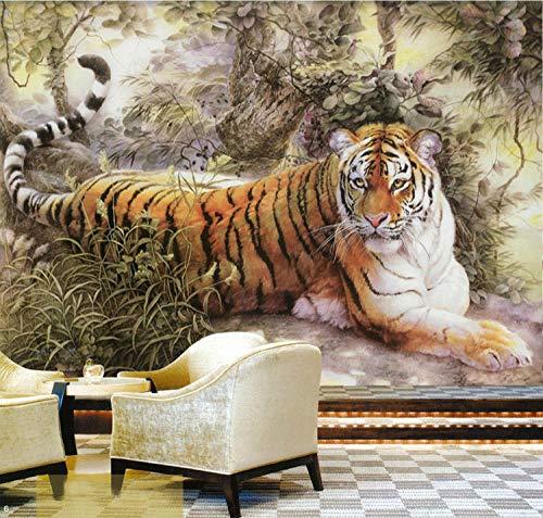 HQHZZQ Malerei Gemälde Tiger Fototapete Individuelle Tiere Wallpaper Riesen Kunst Kid Schlafzimmer Dekor Wohnzimmer Büro Galerie-430x300 -