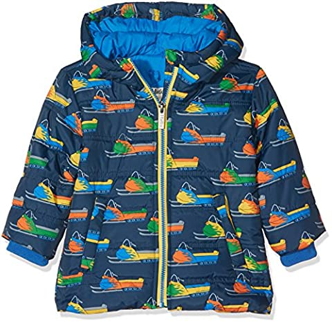 Hatley Boy's Puffer Jacket, Blue (Vintage Snowmobile), 5 Years