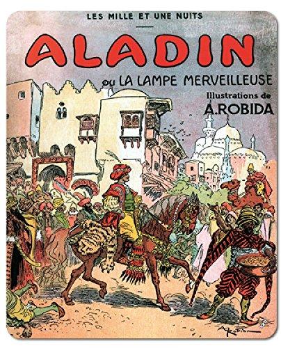 Preisvergleich Produktbild 1art1 89151 Albert Robida - Aladin Und Die Wunderlampe, 1001 Nacht Mauspad 23 x 19 cm