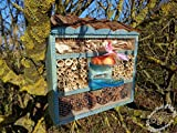 Nesting Box Pale Blue Insect Hotel with Feeder...