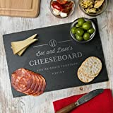 Personalised Cheese Board or Chopping Board - Personalised Wedding, Valentines or Anniversary Gift - Personalised Housewarming gift for couples or families - SLATE OR WOOD Available