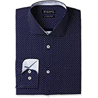 Amazon Brand - Symbol Men's Formal Regular Fit Shirt (S17MBS111_40_navy)