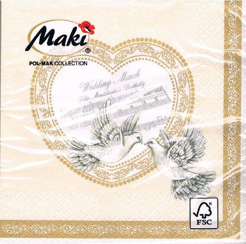 Maki-Servietten-SLSL-000401-Hochzeit-Tauben-Herz-Musik-cream