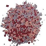 Paillettes colorées pour revêtement epoxy decoratif, resine de sol | mélange (Orange - Rouge - Gris) - 1 Kg