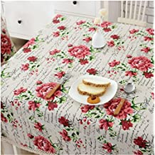 HJHET Rústico simple tela de algodón dulce mesa rectangular de tela 150*200cm.
