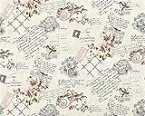 Landhaus Tapete Vliestapete XXL EDEM 904-15 Romantische Mustertapete Blumen Vögel rosa altrosa grün braun 10,65 m2