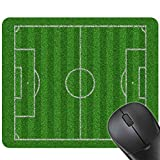 Focus Männer Jungen 24x20CM Fuballplatz Gaming Mouse Pad Matte Gummi Mauspad Spielplatz Sport Drucken Tastatur-Matte
