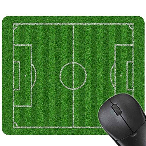 Providethebest Männer Jungen 24x20CM Fuballplatz Gaming Mouse Pad Matte Gummi Mauspad Spielplatz Sport Drucken Tastatur-Matte