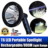 Handheld Searchlight Rechargeable LED Spotlight Portable 5 Inch 2500 Lumens Super Bright 800m