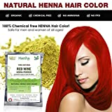 Allin Exporters Red Wine Henna Hair Color - 100% Organic And Chemical Free ( 60 Gram 1 Packet)