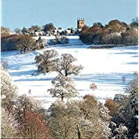Pack of 8 Charity Christmas Cards (ABA-11216) - Snowy Church in The Countryside - Stunning Photographic Christmas Cards from Abacus Cards - Sold in Aid of Marie Curie and The British Heart Foundation