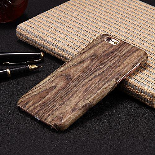 JAWSEU Coque Etui pour iPhone 7,iPhone 7 Coque Transparent en Silicone,iPhone 7 Étui Tpu Cristal Clair,Ultra Slim Mince Créatif Motif Protecteur Téléphone Couverture Soft Silicone Crystal Clear Case F Bois*7