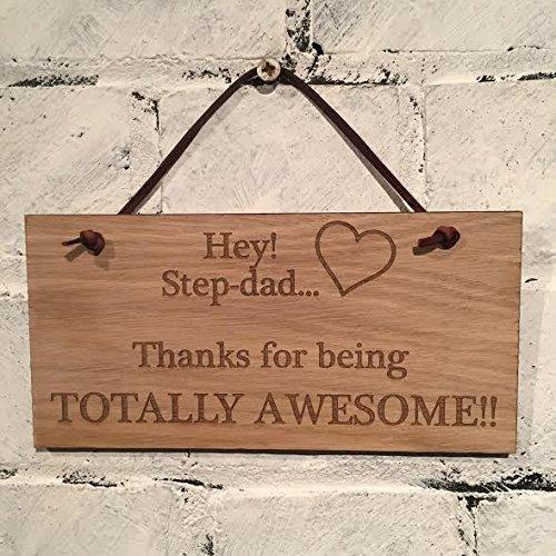 """step-dad Hey. step-dad... dank Völlig für den Awesome. """"Die große Vatertag Geschenk."""