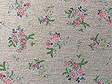 Herz Stoffe Österreich 1 m Sommer Sweat Blumen grau