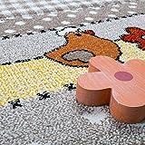 Paco Home Kinderteppich Kinderzimmer Lustige Bauernhof Tiere Konturenschnitt Beige Grau, Grösse:80x150 cm Test