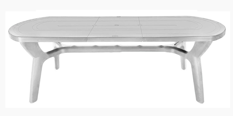 Tavolo da giardino allungabile in plastica/resina 180/230 cm ...