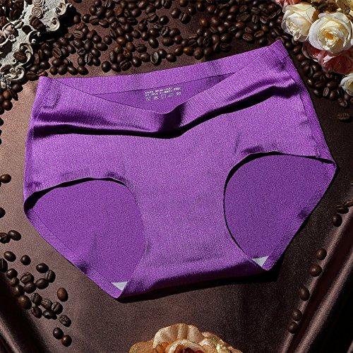 RRRRZ*Ice Seide aus gebürstetem non-marking und sexy Unterwäsche, Temperament und 3 Ecke als reine Baumwolle Hosen sind Code , , Tief (Katze In Einem Kostüm Bienen)