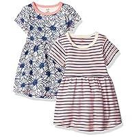 فساتين من القطن العضوي للفتيات (اطفال بعمر الرضاعة، اطفال صغار، لعمر الشباب) Daisy Short Sleeve 2 Pack 18-24 Months