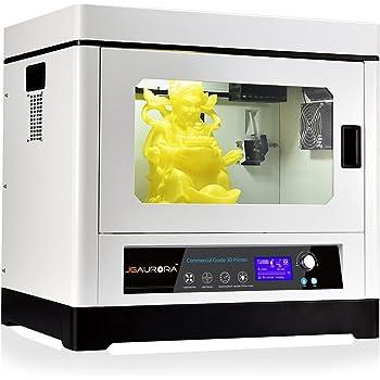 3D Stampante Printers JGAURORA A-8 Dual Motor 3D Stampante Con Buit-in Luce LED, Turbofan e Aggiornamento Slideway