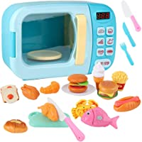 Outgeek 31PCS Kids Microwave Playset Interactive Realistic Pretend Play Toy Kitchen Toy
