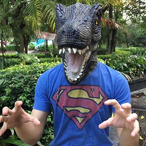 (Toyvian Dinosaurier Kopf Maske Kostüm - Gummi T Rex, Halloween Prop)