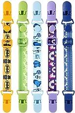 Baby Bib Clip, leegoal 5 Pack Adjustable Universal Bib Clip Neck Strap for Boys and Girls