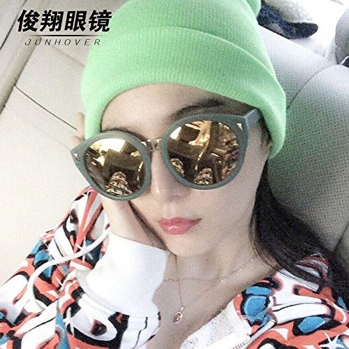 fan bing bing mit ihr, der koreanischen version der bunten film weiblichen runde sonnenbrille retro - männliche star der runde sonnenbrille trendsetter,schwarz gerahmte iris
