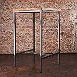 Original BestLoft® Stehtisch Bartisch Tresen Bar IndustrieDesign Loft (ein Stehtisch: 66cmx66cm, Eiche natur)