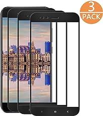 [3 Pack] Xiaomi Mi A1/5X Vetro Temperato,DEALUY Pellicola Protettiva in Vetro Temperato per Xiaomi Mi A1/5X. Anti-Impronte Digitali, Anti-graffi, Nessuna Bolla, 0,33mm HD Ultra Resistente Alta Qualità, Screen Protector per Xiaomi A1/5X.