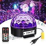 UV Beleuchtung Discokugel SOLMORE UV Schwarzlicht 4 Modi Musikgesteuert UV LED Lichteffekte Magic