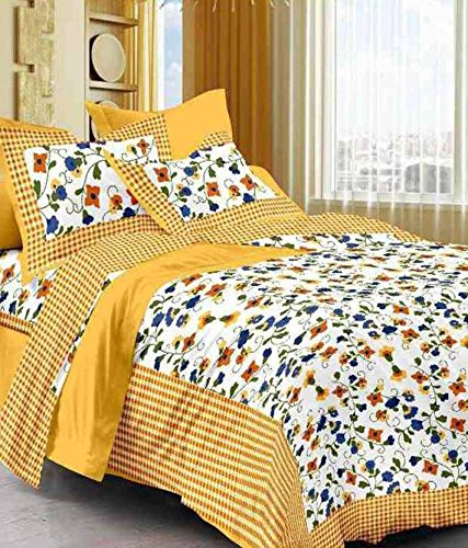 Bed-Zone-Cotton-Comfort-Rajasthani-Jaipuri-Traditional-Double-Bedsheet-with-2-Pillow-Covers-Multicolour